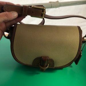 Coach Beige & Brown Leather Vintage Crossbody